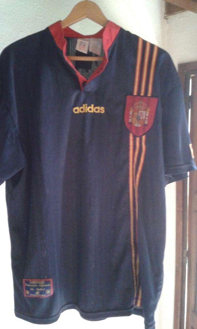 Camiseta oficial de España eurocopa 1996 Inglaterra coleccionista de ... c25ac012c9cda