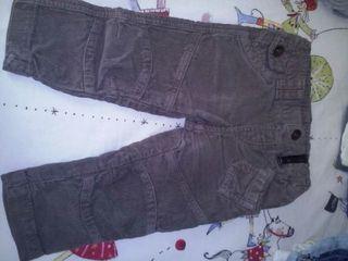 Pantalon pana chocolate Zara 9/12 meses