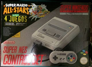 SUPER NES NINTENDO PACK SUPER MARIO ALL STARS PAl ESPAÑOLA