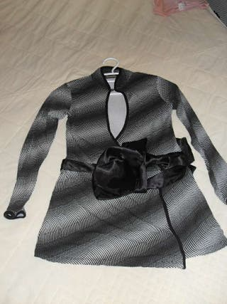 Blusa con cinturon de seda