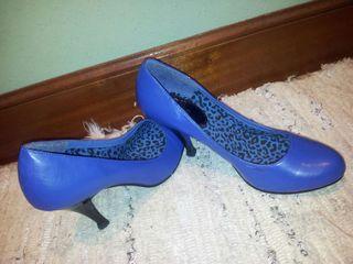 zapatos azulones sin estrenar de Blanco..n°39