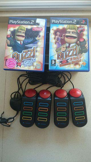 1 Juego buzz y pulsadores