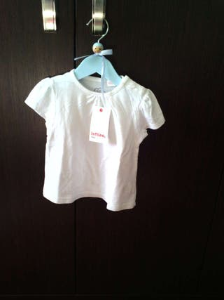 Camiseta con etiqueta 9-12 78 cm