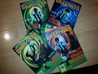 4 libros dragones cuando el balon entra en el area del tiempo