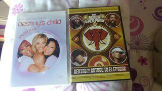 DVD'S DESTINY'S CHILD Y THE BLACK EYED PEAS
