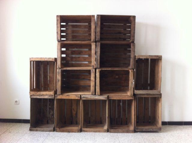 Cajas madera fruta antiguas vintage decoraci n de segunda mano por 8 en vilanova i la geltr - Cajas de madera para frutas ...