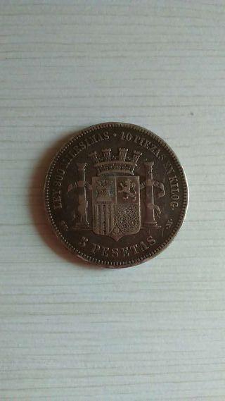 Moneda de 5 pesetas de plata