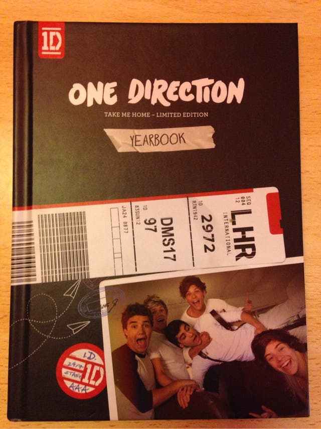 One Direction Take Me Home Limited Ediction Yearbook