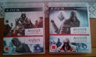 PS3 4 Assasin's Creed en 2 Blu-Ray
