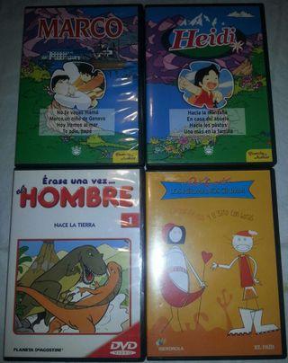 Lote de 4 DVD infantiles.