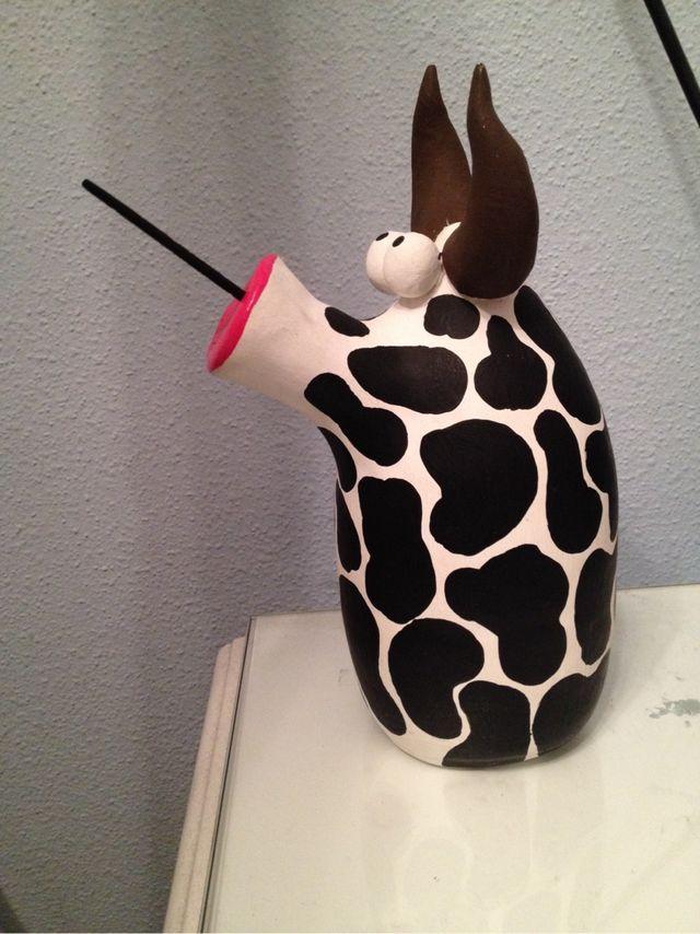 Vaca De Cerámica Para Incienso Handmade Artesanal