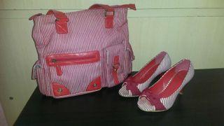 Conjunto marinero bolso y zapatos