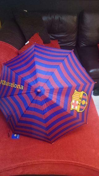 Paraguas del Barcelona y real Madrid