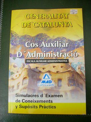 Libro aux. Administración Generalitat