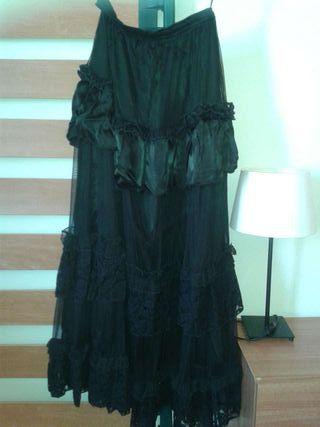 Falda negra gótica larga villarejo de salvanes