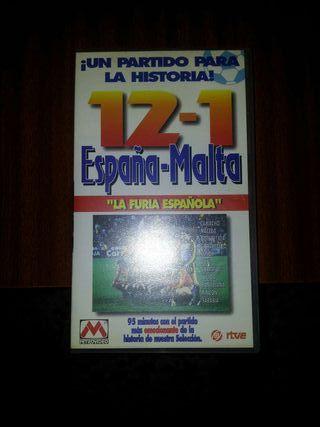 CINTA VHS ESPAÑA-MALTA