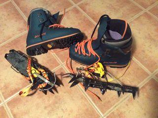 Botas Alpinismo + Crampones Talla 39