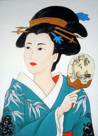 Cuadro Geisha