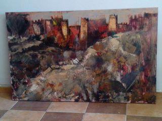 cuadro paisaje.pintura acrilica