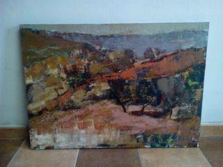 cuadro paisaje pintura acrilica