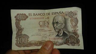 Billete de 100 pesetas antiguo