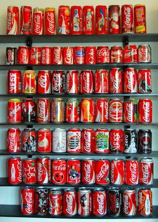 Coca-Cola colección latas y objetos