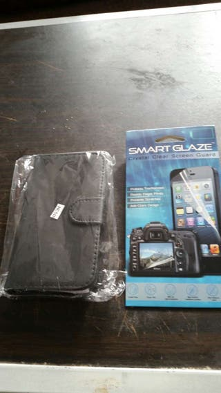 HTC 510 leather case screen protector