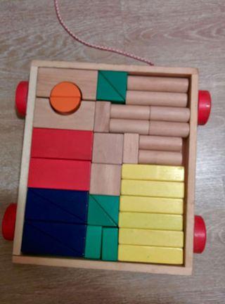 Carro de piezas apilables de madera, perfecto!!!