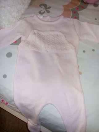 Peto lana con jersey talla 3 meses