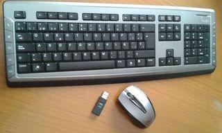 Teclado con raton y USB