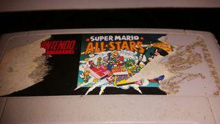 Juego de super Nintendo super mario all-stars