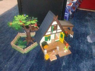 Playmobil casa veterinario-cazador