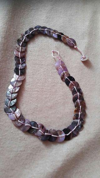 Collier violet léger fantaisie