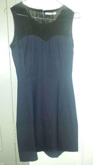 Robe bleu et noir