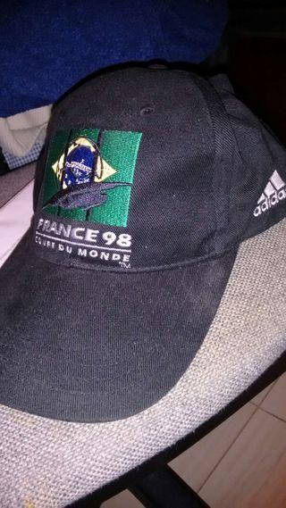 Gorra Adidas BRASIL recuerdo Mundial France 98