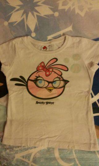 Camiseta Angry Birds niña talla 6