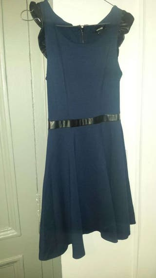Robe bleu et noir taille s