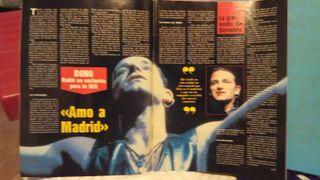 Revista El gran musical U2 Bernabeu 1987 Bowie