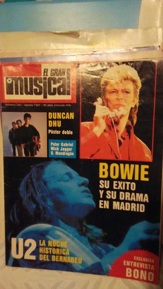 Revista El gran musical U2 Bernabeu 1987