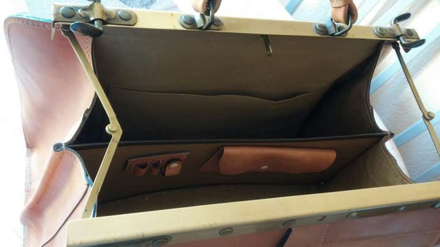 Bolso de viaje maletín piel