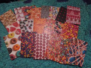 Pegatinas/stickers polaroid de gominolas o dulces Scrap Scrapbook Scrapbooking Manualidades