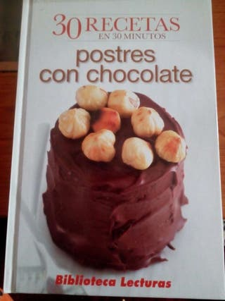 Libro de postres con chocolate