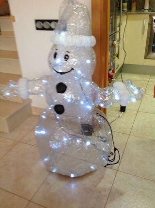 Muñeco nieve hinchable-Ninot De Neu Hinflable