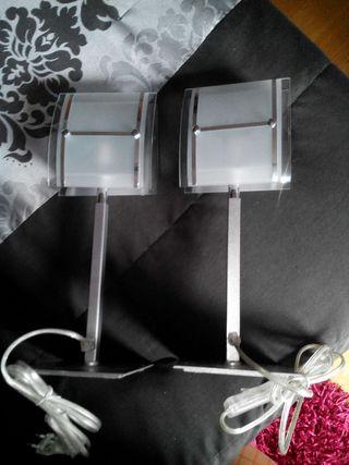 2 lámparas de mesilla