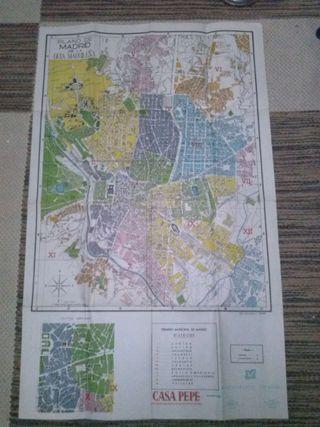 Mapa de Madrid, años 50