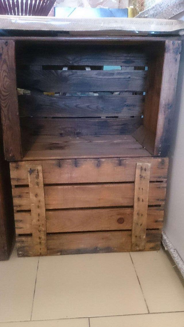 Cajas madera antiguas de fruta para decorar de segunda mano por 7 en jesus en wallapop - Decorar cajas de madera de frutas ...