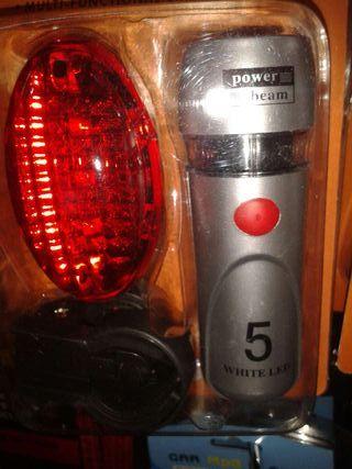 Luces bicicleta delantera y trasera LED