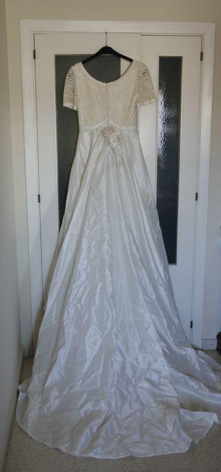 vestido de novia talla 36 de segunda mano en sevilla en wallapop
