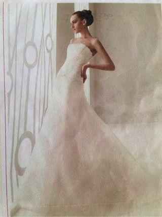 Vestido novia aire rosa