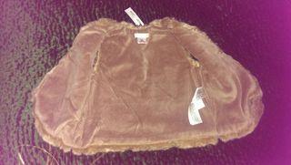 Gilet fourrure brun Zara neuf 2/3ans